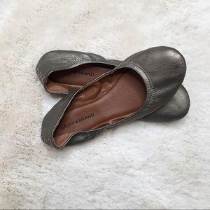 Lucky Brand Emmie Bronze Ballet Flats Size 10